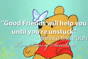 , childhood, cute, friends, good, help, pooh bear, quote, quotes ...