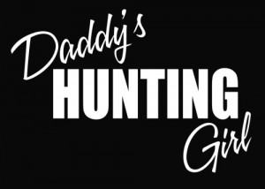 Daddy's Hunting Girl Deer Vinyl Decal Sticker