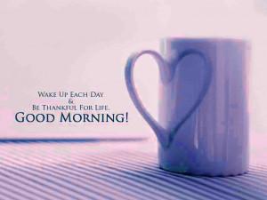 Cute Coffee Mug Good Morning Wallpaper