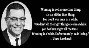 Winning Is Not A Something Thing….
