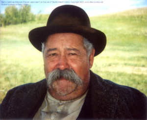 barry corbin as bob alderson on the set of monte walsh 2003 turner ...