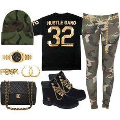 Hustle Gang My N*gga !, created by maybabieeex3 on Polyvore More