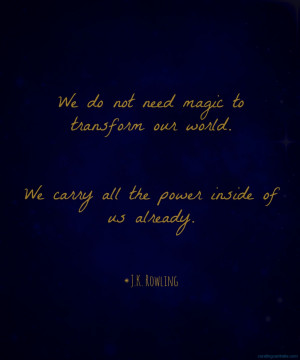 jk rowling quote