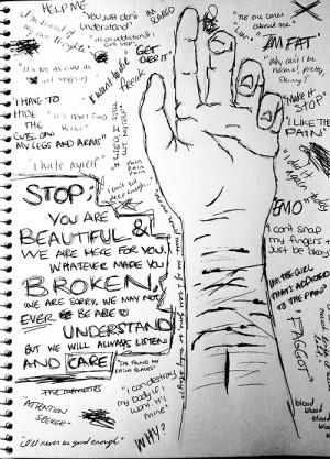 art blood depression suicide self harm self hate cut cutting emo ...