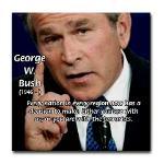 Terrorism George W. Bush Tile Coaster
