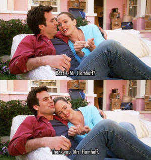 Jennifer Garner and Mark Ruffalo in 13 Going on 30. I love this movie