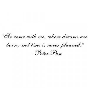 shineonyoucrazymuser:Peter Pan Quote (clipped to polyvore.com)