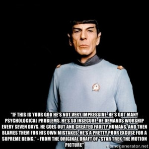 quote by spock, written by gene roddenberry for the original draft ...