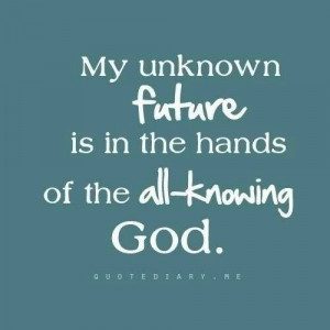 Thank you God, for being in control!