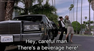 Hey careful man there''s a beverage here! - The Big Lebowski (1998)