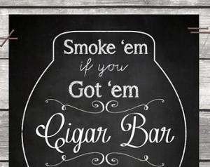 Cigar Bar Chalkboard Sign - Wedding Decor Reception Receiving Guest ...