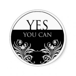 word quote-Yes You Can Sticker