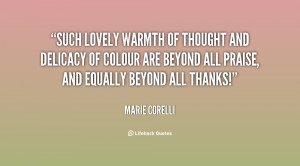 Such lovely warmth of thought and delicacy of colour are beyond all ...