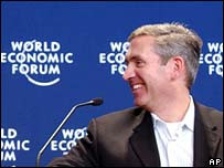 Eason Jordan came under blog based scrutiny forments at Davos