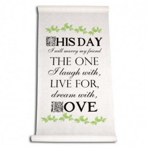 This Day I Will Marry My Friend..love quote on Wedding Aisle Runner