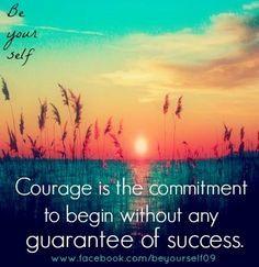 courage quote via www facebook com more quotes words phras faith ...