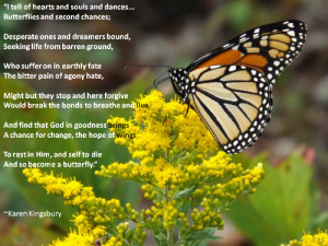 Recovery Quote about Change and Butterflies