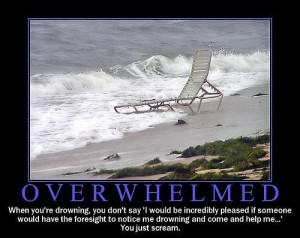 "Don't make ""overwhelm"" into a noun."
