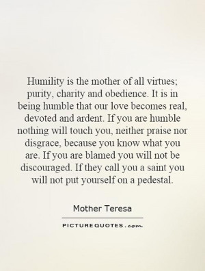Mother Teresa Humility Quotes