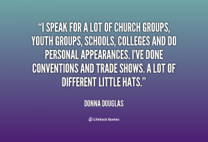 speak for a lot of church groups youth groups schools colleges and