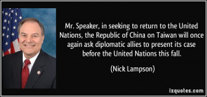 More Nick Lampson Quotes