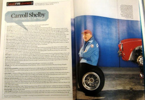 Carroll Shelby - one tough old bird (how I think Fuzzy would be if he ...