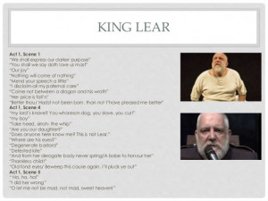 King Lear Act 1 Scene 1 Key Quotes ~ King Lear Quotes AO2, AO3 & AO4 ...