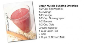Muscle building smoothie