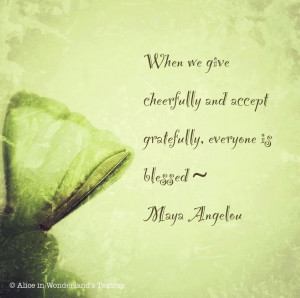 Give Cheerfully - The Daily Quotes