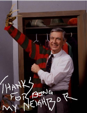 Mr Rogers freddy Krueger