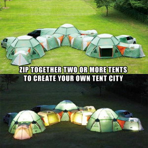 Zip Together Two Or More Tents To Create Your Own Tent City