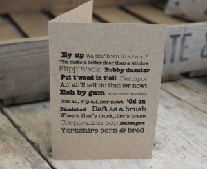 ... little button co shop the yorkshire collection yorkshire sayings card