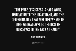 Related Pictures Vince Lombardi Quotes Determination