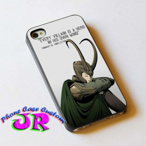 Quote of Tom Hiddleston Loki - Phone Case for iPhone 4 / 4S - iPhone 5 ...