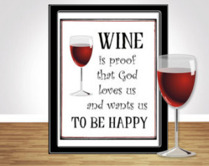 Wine Quote - Printable wall art - I nspirational quotes - instant ...