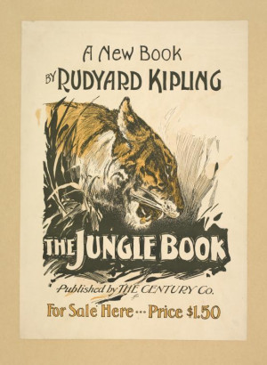 "The book poster for ""The Jungle Book,"" by writer Rudyard Kipling ..."