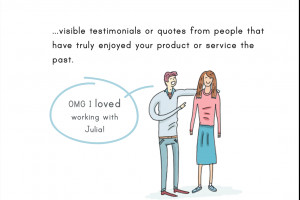 visible testimonials or quotes from people that have truly enjoyed ...