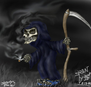 Funny Grim Reaper by SteevDragon