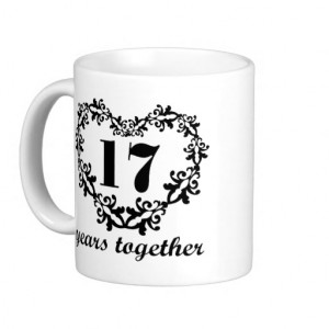 17th Anniversary 17 Years Together Heart Gift Mug