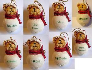 ... -Snowbear-Ornaments-w-Sayings-Your-Choice-Mom-Dad-Baby-Grandpa-BB12