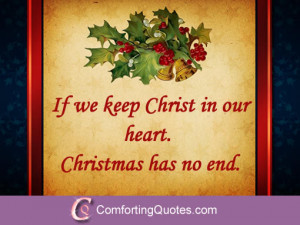 Short Religious Christmas Quote