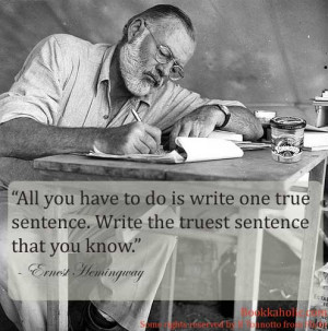 Ernest Hemingway Quote on Writing