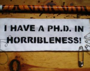 Dr Horrible quote punk patch