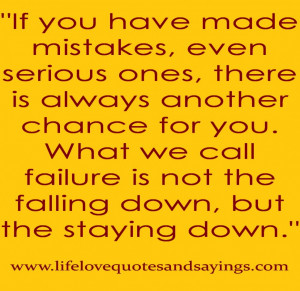 Mistake Quotes About Love Forgiveness: If You Have Made Mistakes Even ...