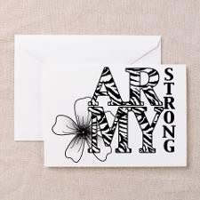 Strong Army Girlfriend Greeting Cards