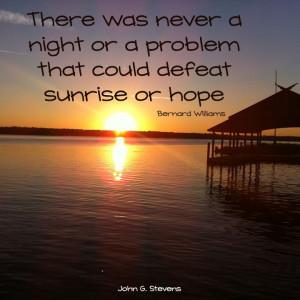 ... hope. Bernard Williams #quote #positive #wordstoliveby #johngstevens