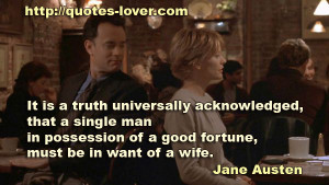 Funny Single Men Quotes Picture quote by jane austen