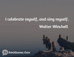 Inspirational Quotes - Walter Winchell