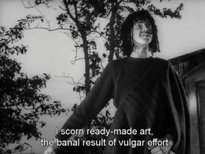 ... art the banal result of vulgar effort - Through a Glass Darkly (1961