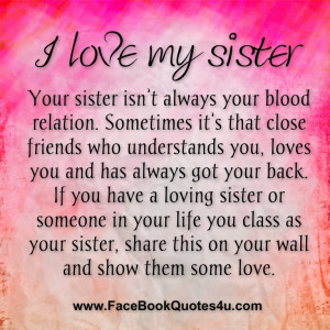 love my sister your sister isn t always your